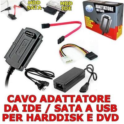 Cavo adattatore VulTech convertitore da IDE SATA a USB per Harddisk e Dvd