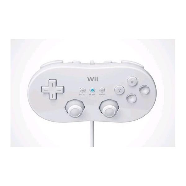Controller tradizionale joypad pad classico bianco compatibile per Nintendo WII