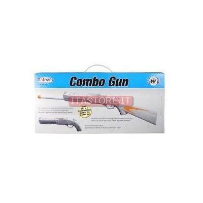 Fucile combo gun con canna 2 in 1 da 82 cm mod 5 per Nintendo WII colore bianco