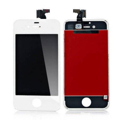 i4W Kit Display Apple iphone 4 white completo di touch screen e frame assemblato