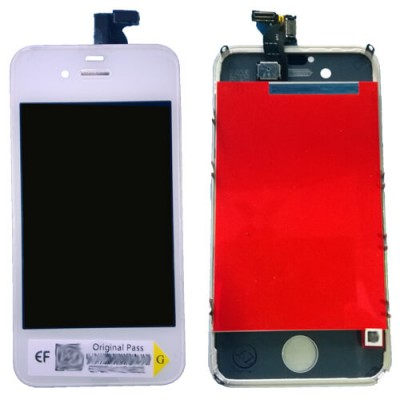 i4SW Kit Display Apple iphone 4s white completo di touch screen e frame assemblato