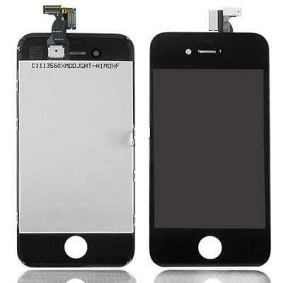 I4B Kit Display Apple iphone 4 black completo di touch screen e frame assemblato
