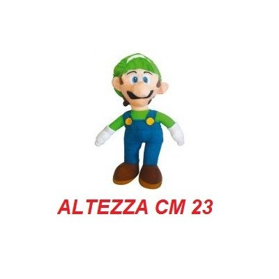 Peluche 23 cm Luigi - linea Super Mario Bros originale Nintendo certificato