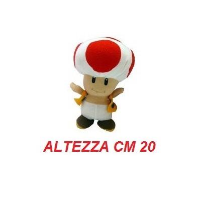 Peluche 20 cm Toad - linea Super Mario Bros originale Nintendo certificato