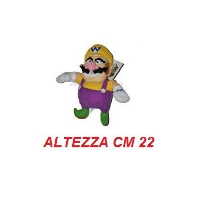 Peluche 22 cm Wario - linea Super Mario Bros originale Nintendo certificato