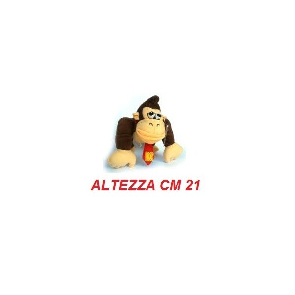 Peluche 21 cm Donkey Kong - linea Super Mario Bros originale Nintendo certificato