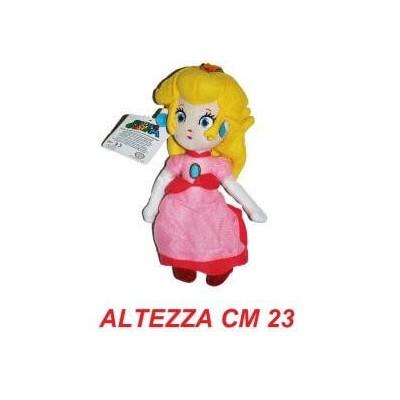 Peluche 23 cm Principessa Peach - linea Super Mario Bros originale Nintendo certificato
