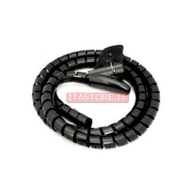 Avvolgi copri cavi a spirale mangia cavi colore nero lungo 1,5 metri