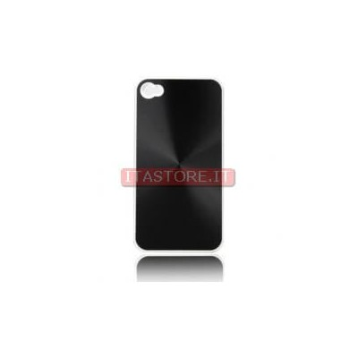 Cover custodia case rigida in plastica nera black per Apple Iphone 4 4G