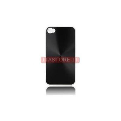 Cover custodia case rigida in plastica nera black per Apple Iphone 4 4G