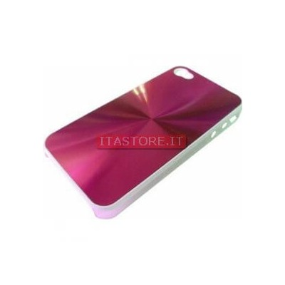 Cover custodia case rigida in plastica fuxia rosa per Apple Iphone 4 4G
