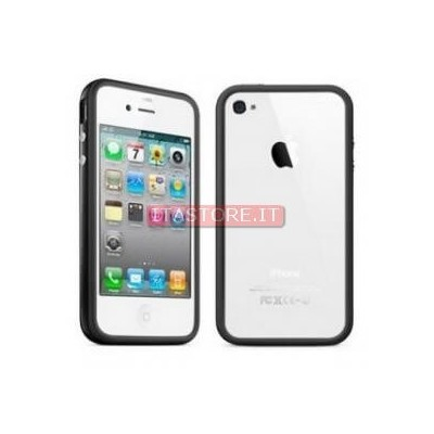 Custodia aperta cover frame bumpers per Iphone 4G 4S nera