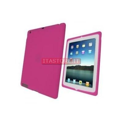 Cover custodia protezione antiurto in gomma rosa per Ipad 2 Ipad2
