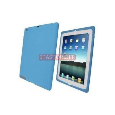 Cover custodia protezione antiurto in gomma azzurra per Ipad 2 Ipad2