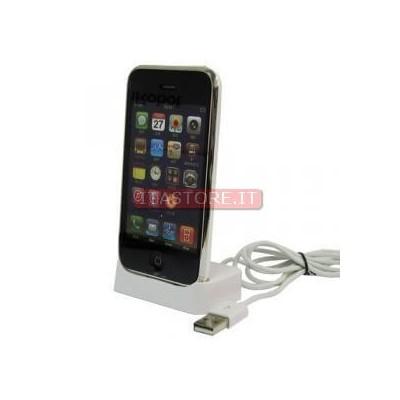 Idock dock basetta per ricarica e traferimento dati per Iphone 3 4 4G 4S