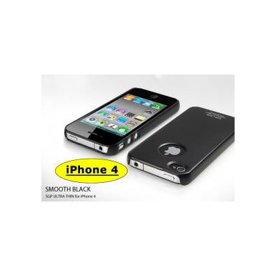 Cover custodia SGP case ultra sottile nera black per Apple Iphone 4 4G