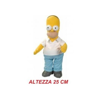 Peluche stoffa The Simpsons 25 cm - Homer Simpson morbido originale