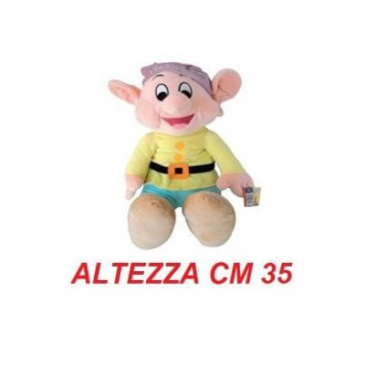 Peluche 7 nani 35 cm - Cucciolo morbido originale ufficiale Disney - Taglia 3