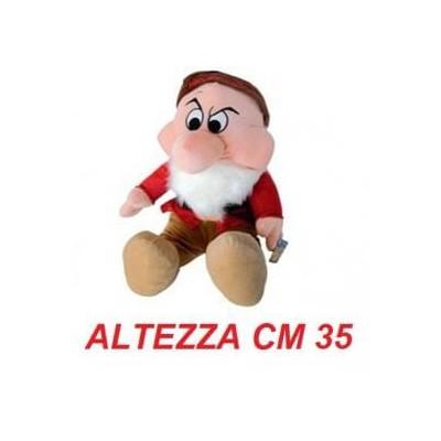 Peluche 7 nani 35 cm - Brontolo morbido originale ufficiale Disney - Taglia 3