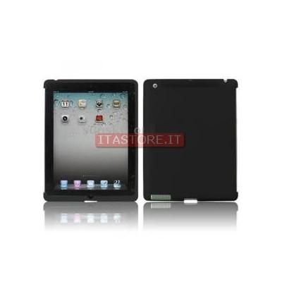 Cover custodia protezione antiurto in gomma nera black per Ipad 2 Ipad2