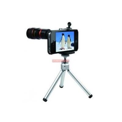Cannocchiale con zoom 8x per fotocamera con cavalletto per Apple Iphone 4 4G 4S 4GS