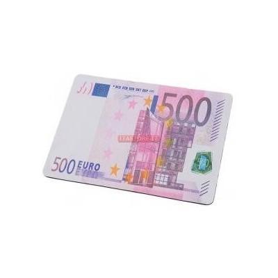 Tappetino mouse pad banconota 500 euro morbido antiscivolo in gomma misure 28 x 20 cm