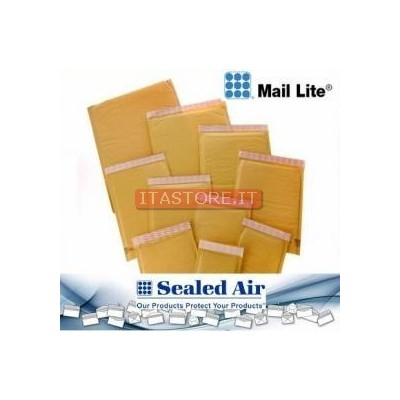 10 buste postali imbottite con bolle Mail Lite formato piccolo misura 11 x 16 cm