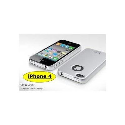 Cover custodia SGP case ultra sottile grigia silver per Apple Iphone 4 4G