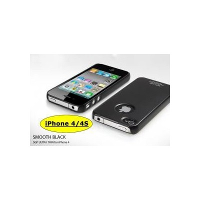 Cover custodia SGP case ultra sottile nera black per Apple Iphone 4 4G 4S