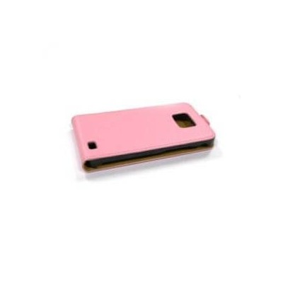 S2 Custodia cover in finta pelle cover rosa pink per Samsung Galaxy S 2 SII GT i9100
