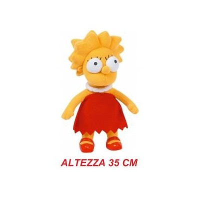 Peluche stoffa grande The Simpsons 35 cm - Lisa Simpson morbido originale