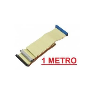 Cavo piatto IDE EIDE 40 pin con 2 connettori per harddisk e masterizzatori XL da 100 cm