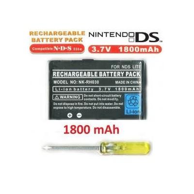 Batteria sostitutiva di ricambio 1800 mah per Nintendo DS LITE con cacciavite omaggio