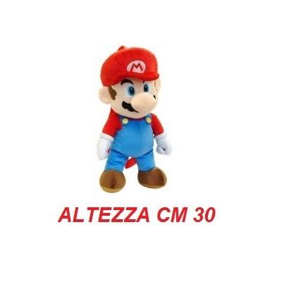 Peluche grande 30 cm Mario - linea Super Mario Bros originale Nintendo certificato
