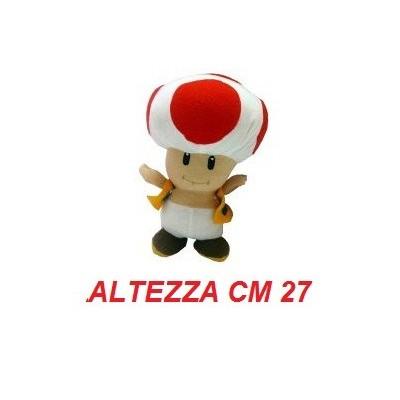 Peluche grande 27 cm Toad - linea Super Mario Bros originale Nintendo certificato