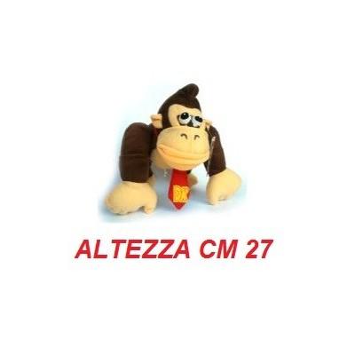 Peluche grande 27 cm Donkey Kong - linea Super Mario Bros originale Nintendo certificato