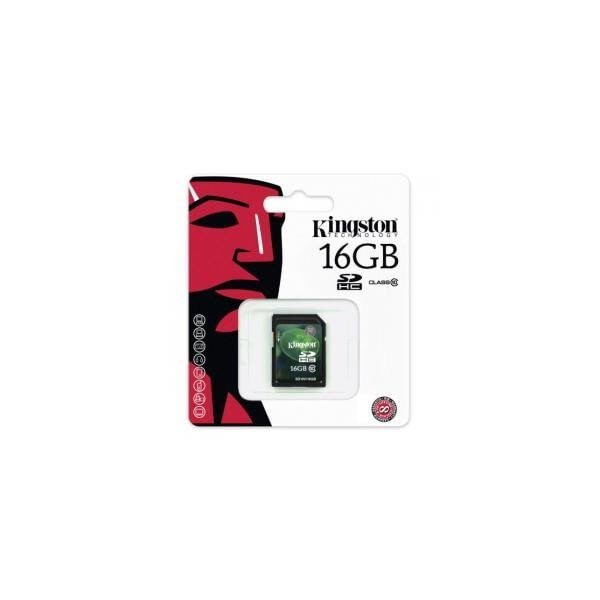 Scheda Di Memoria Secure Digital SD HC classe 10 da 16 Gb Kingston flash card 16GB
