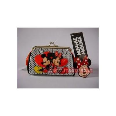 Borsellino borsello Disney portamonete Topolino e Topolina con chiusura a scatto