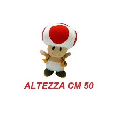 Peluche gigante 50 cm Toad - linea Super Mario Bros originale Nintendo certificato