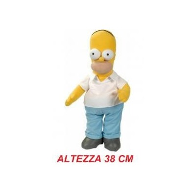 Peluche stoffa grande The Simpsons 38 cm - Homer Simpson morbido originale