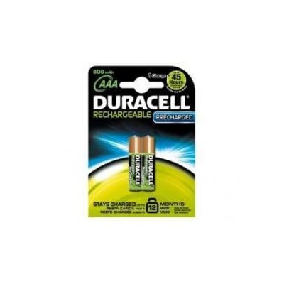 2 Batterie pile Ricaricabili Precharged MiniStilo AAA Duracell 800 mAh