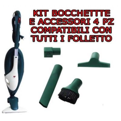 Kit bocchette e accessori 4 pezzi compatibili per tutti i Folletto