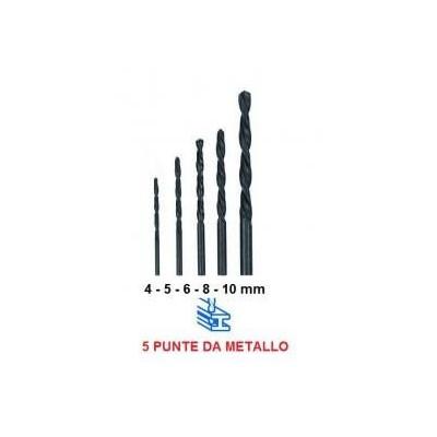5 punte per metalli universali per trapano da 4 5 6 8 10 mm per fori precisi
