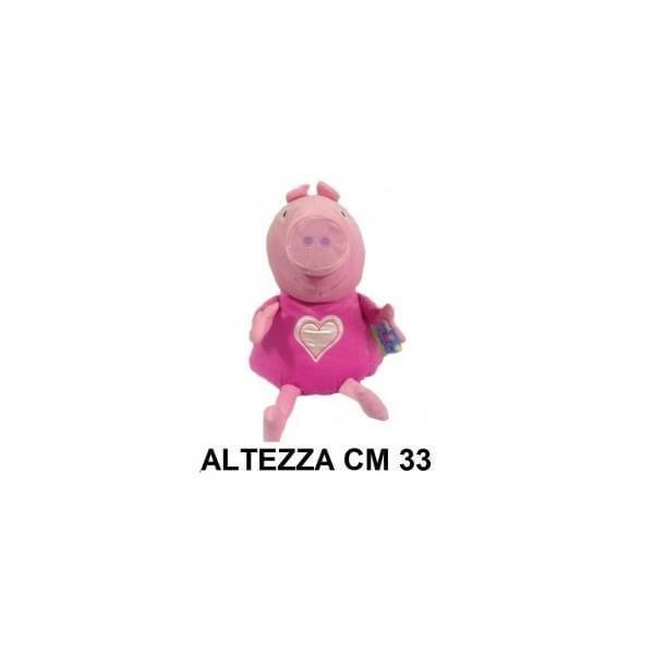 Peluche 33 cm Peppa Pig con vestito rosa e cuore T3 originale con cartellino PeppaPig