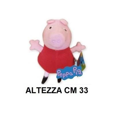Peluche 33 cm Peppa Pig con vestito rosso T3 originale con cartellino PeppaPig