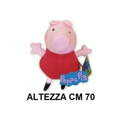 Peluche 70 cm Peppa Pig gigante con vestito rosso T7 originale con cartellino PeppaPig