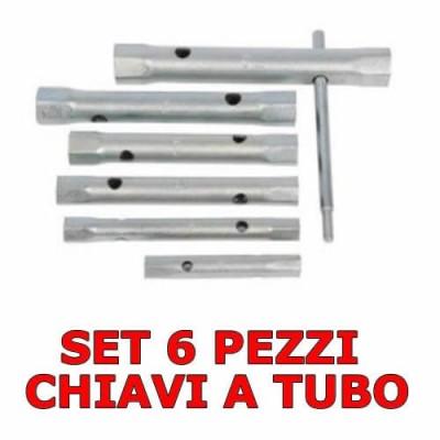 Set 6 pezzi chiavi a tubo da 8 a 17 mm con barra di torsione