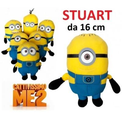 Peluche da 16 cm Minions - Stuart della serie Cattivissimo Me 2 originale con cartellino