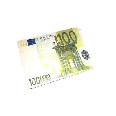 Tappetino mouse pad banconota 100 euro morbido antiscivolo in gomma misure 28 x 20 cm