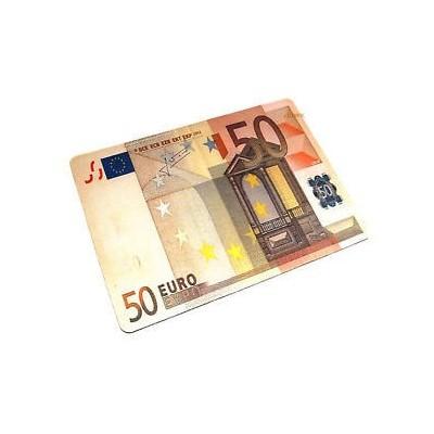 Tappetino mouse pad banconota 50 euro morbido antiscivolo in gomma misure 28 x 20 cm